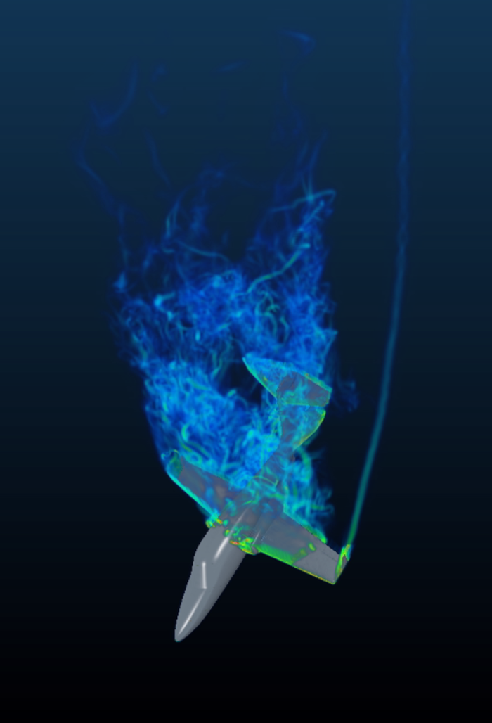Advanced modeling XFlow predicts with good accuracy the effect of flight manoeuvers like pitch capture or dutch roll, which is normally unreliable with traditional CFD and requires lots of wind tunnel and flight testing to resolve.