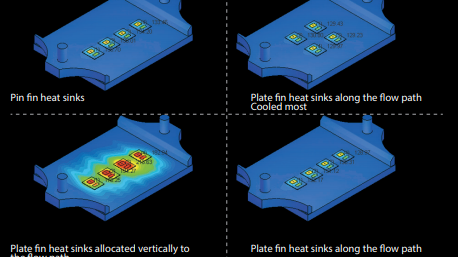 Cradle CFD thermal simulation of electronic components