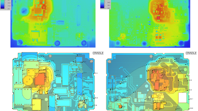 Cradle CFD thermal simulation of PCB
