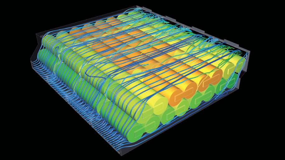 Cradle CFD thermal simulation of battery