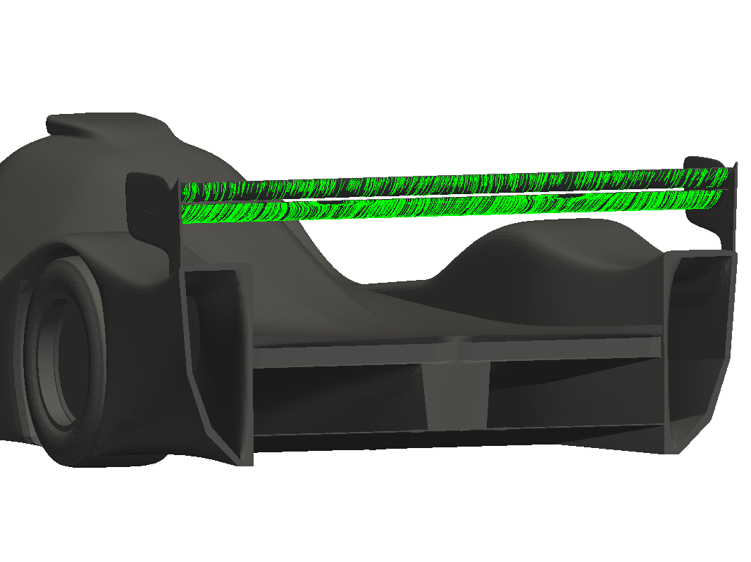 MantiumRacer with improved rear wing aerodynamics