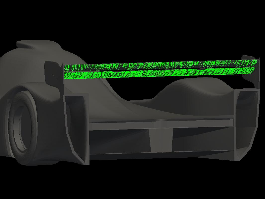 MantiumRacer with improved rear wing aerodynamics